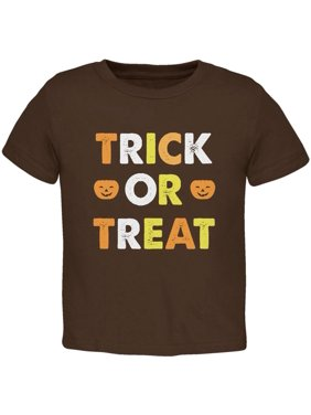 2c3cd6be Product Image Halloween Trick Or Treat Brown Toddler T-Shirt