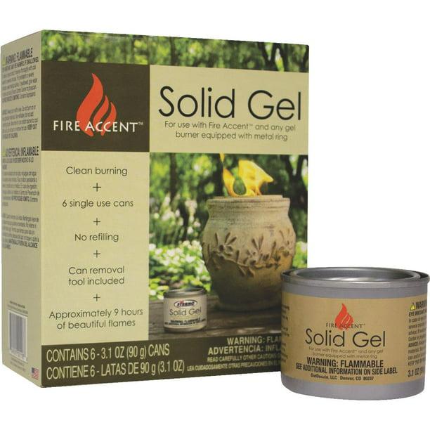 3 1 Oz Clean Burning Solid Gel Fuel