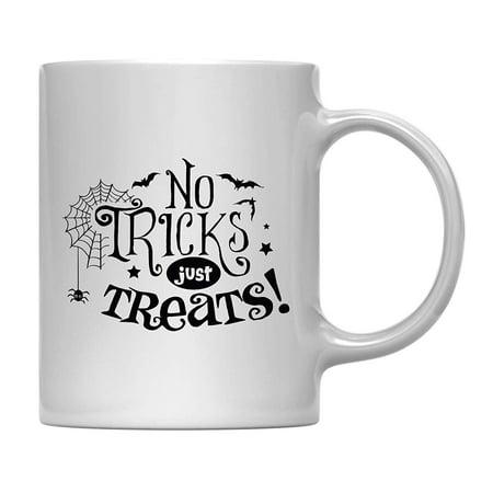 Andaz Press 11oz. Coffee Mug Gift, No Tricks Just Treats, Halloween October Present Ideas with Gift Box](Halloween Appetizers Ideas)