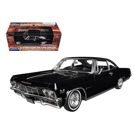Impala Lowrider (1965 Chevrolet Impala Black Low Rider 1/24 Diecast Model Car by)