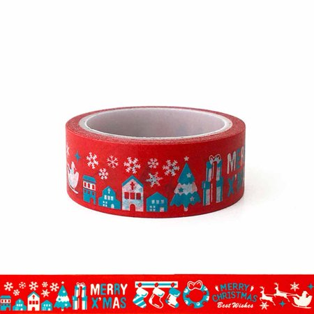 AkoaDa Christmas Decorative Washi Tape,Decorative Craft Tape for DIY and Gift Wrapping ()