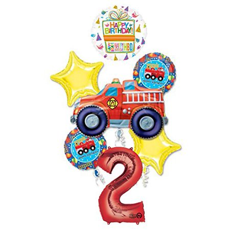 Fire Engine Party (Fire Truck Fire Engine 2nd Birthday Party Supplies and Balloon)