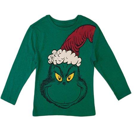 Dr Seuss Grinch Little Boys Toddler T Shirt (Toddler Boys) - Grinch Items