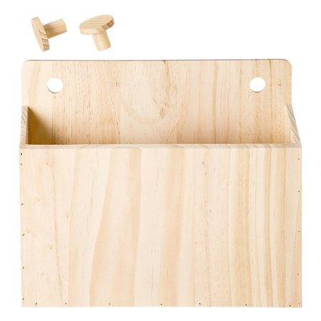 - Wooden Pegboard Container: 12 x 10.25 inches, 3 pieces