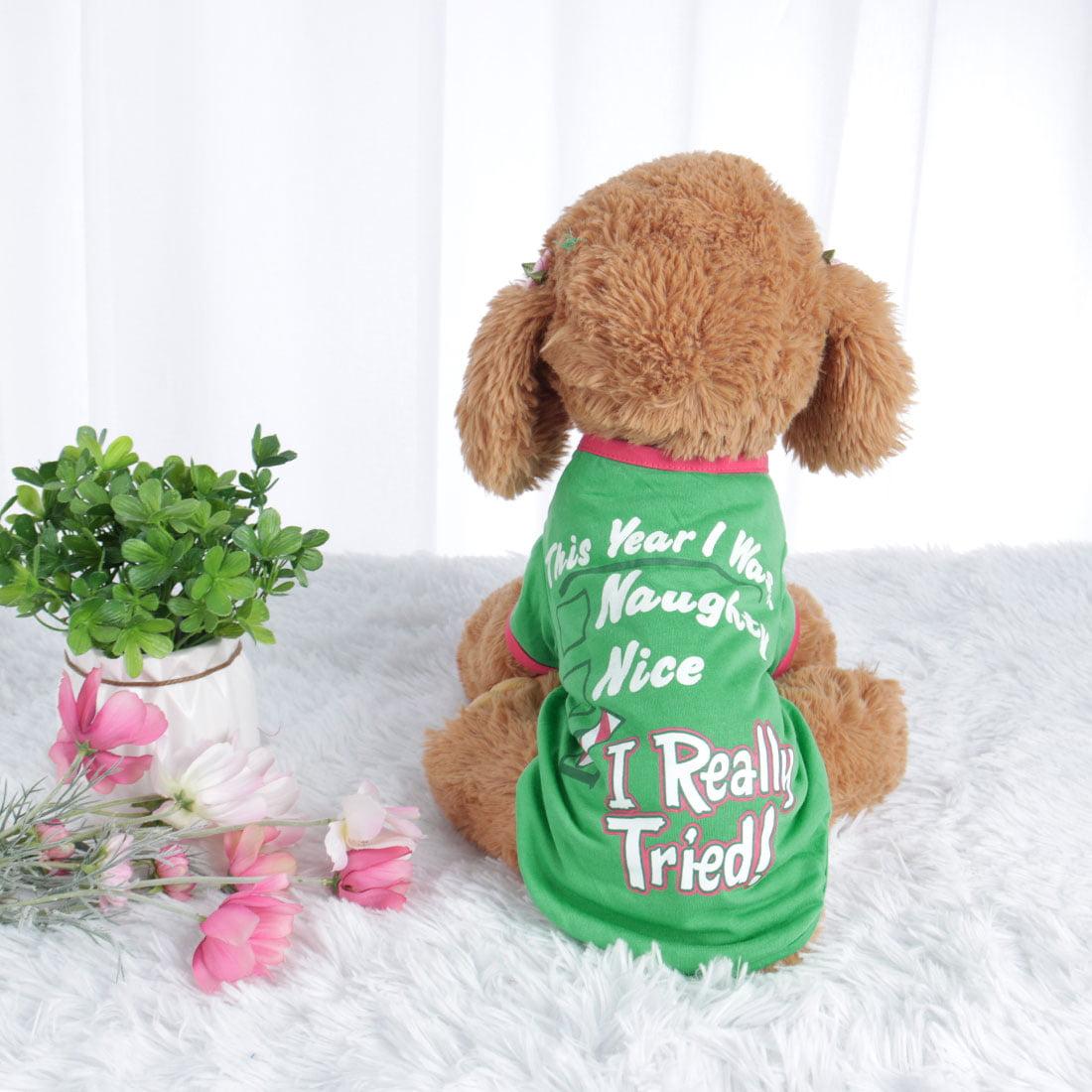 Dog T Shirt Puppy Small Pet Sweatshirt Tops Clothes Apparel Vest Costume #2, L - image 5 of 7