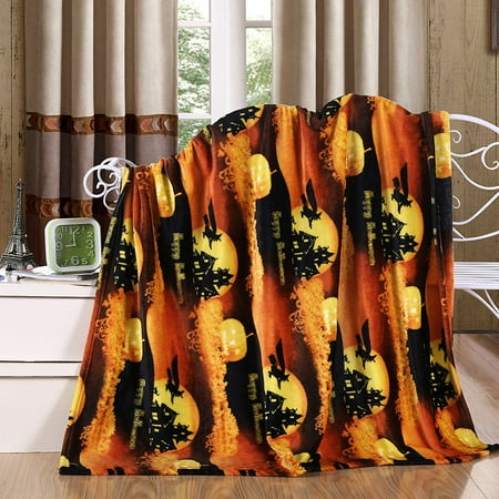 flying witch ultra plush fleece halloween throw blanket 50 in w x 60 in