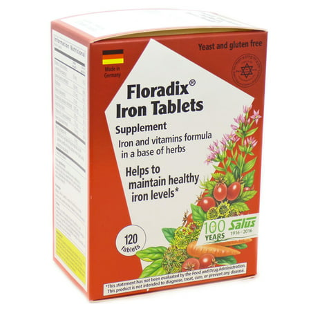 Salus-Haus Floradix Iron Tablets 120 Ct