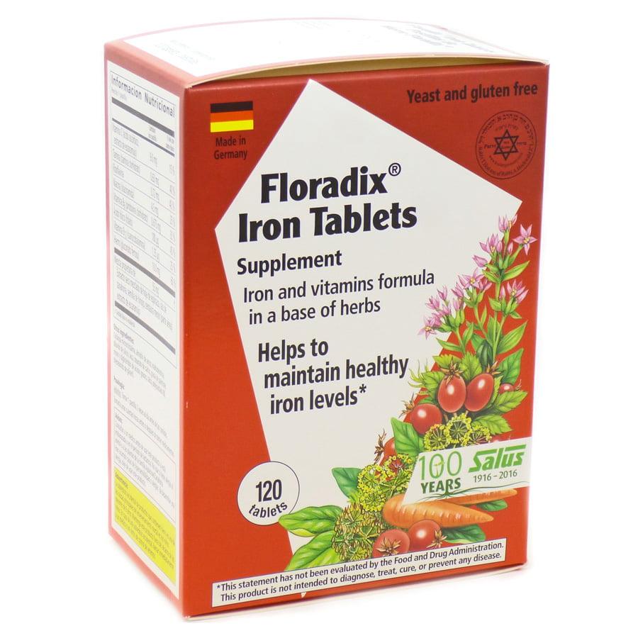 Salus-Haus Floradix Iron Tablets 120 Ct