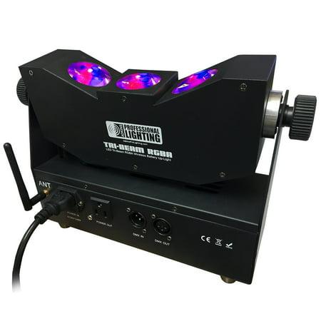 wedding light led tri beam rgba wireless battery up light tri
