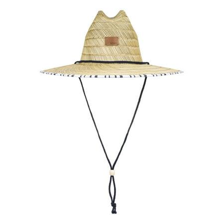 Roxy Womens Tomboy Printed Wide Brim Sun Hat - Bright White Long Stripes - S/M Long Sleeve Print Hat