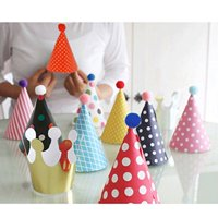 a494e7d91262e Product Image lovely Mini paper cone birthday party hats for Children  ,Fun Party Hats Set for Kids Birthday