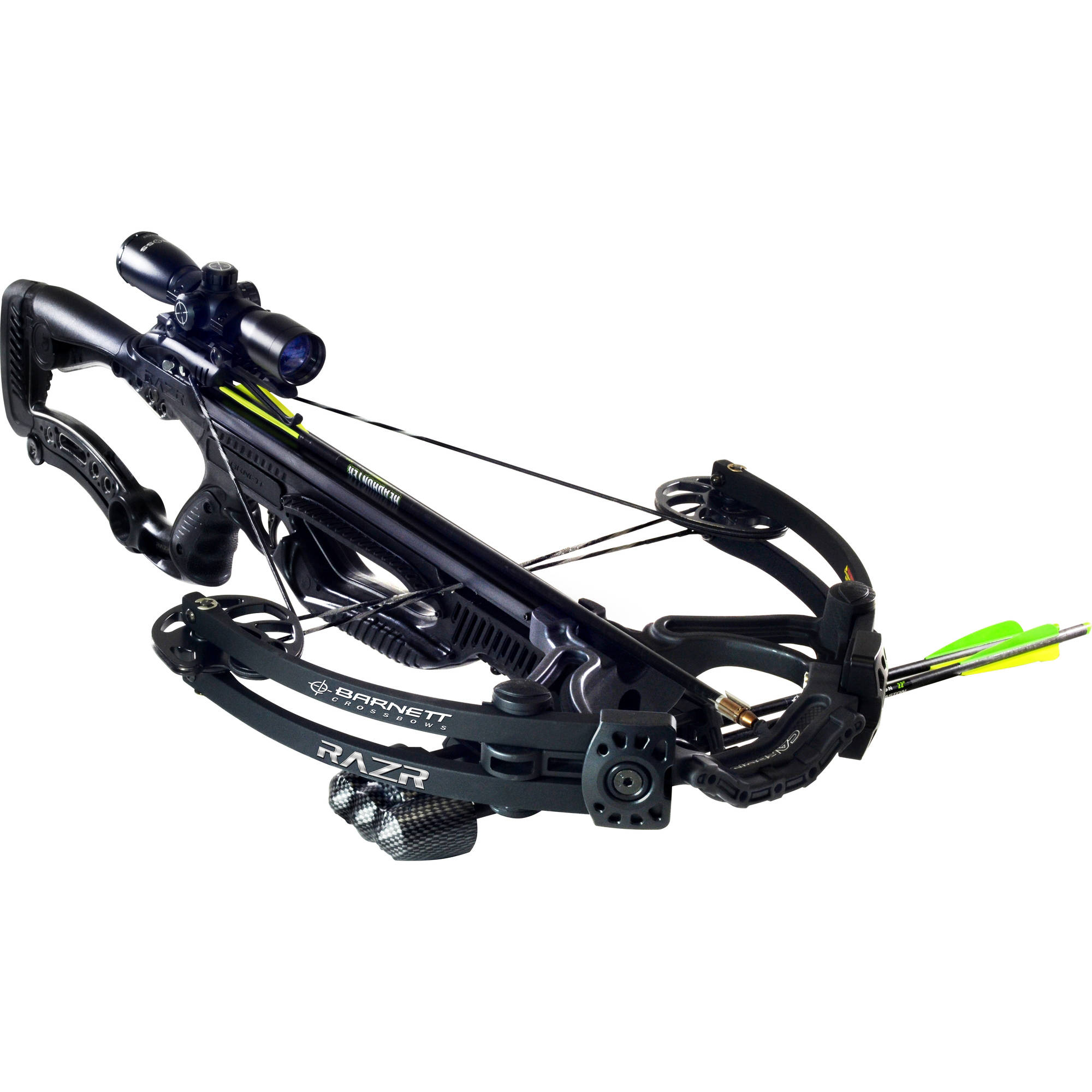 Barnett Razr Game Hunting Crossbow Speed Maximizing Small Grain Crossbow with Scope Hunting Package by Barnett
