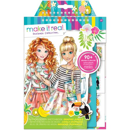 Fashion Design Sketchbook  Graphic Jungle  Kids Fashion Craft Kit