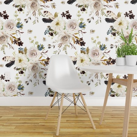 Wallpaper Roll Bohemian Floral Nursery Decor Flowers Boho Autumn 24in