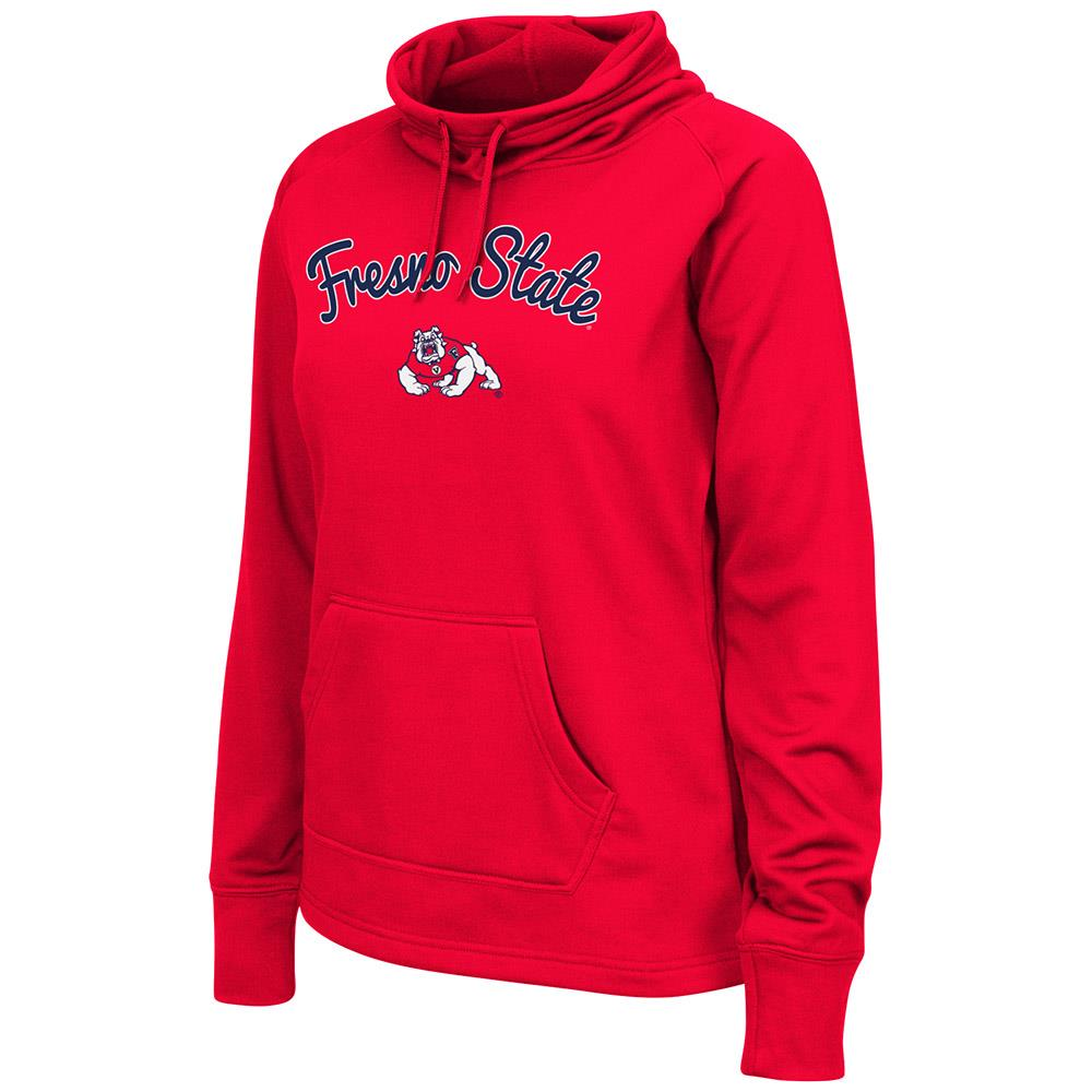 Womens Fresno State Bulldogs Poly Pull-over Funnel Neck Sweatshirt