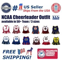 Pets First College Oklahoma Sooners Cheerleader, 3 Sizes Pet Dress Available. Licensed Dog Outfit