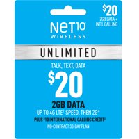 Net10 $20 Unlimited 30 Days Plan (Email Delivery)