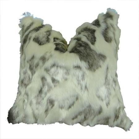 Handmade Rabbit (Ivory Rabbit Fur Handmade Throw Pillow )