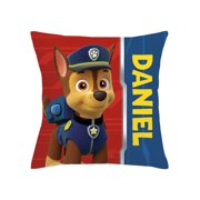 Personalized PAW Patrol Throw Pillow - Chase