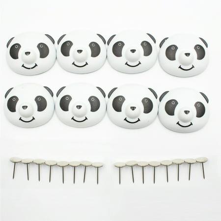 8 pcs Quilt Clip titulaire Mignon Drap De Lit Fixateur Antidérapant Housse de Couette Magnétique Anti-Déplacement Panda Boucle - image 2 de 3