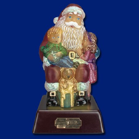 Old World Santa Lights (Old World Christmas Wishes and Dreams Santa Glass Night Light)