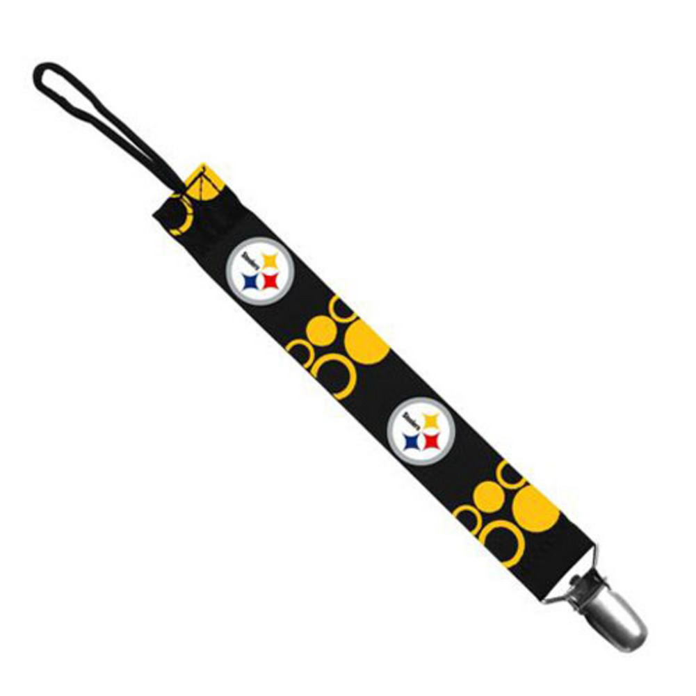 Baby Fanatic Pacifier Clip - NFL Pittsburgh Steele