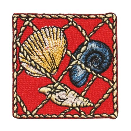 ID 0274 Snail Clam Seashell Net Patch Sea Life Embroidered IronOn Applique