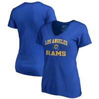 Los Angeles Rams NFL Pro Line by Fanatics Branded Women's Vintage Collection Victory Arch V-Neck T-Shirt - Royal
