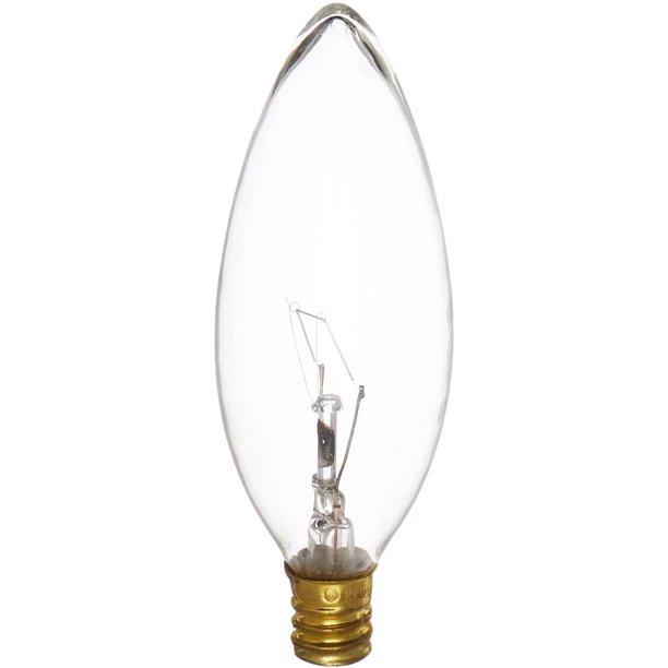 40ctc Hv Candelabra Base 220 Volt 40, Incandescent Luminaire Chandelier Bulb