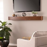 Southern Enterprises Anibera Floating Mantel Wall Shelf, Transitional Style, Whiskey Maple