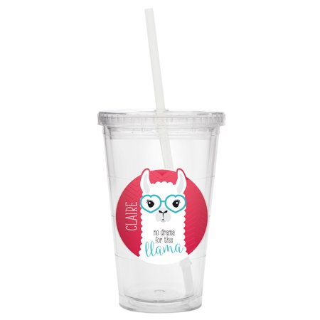 Personalized Say What Tumbler - Llama](Personalized Acrylic Tumblers)