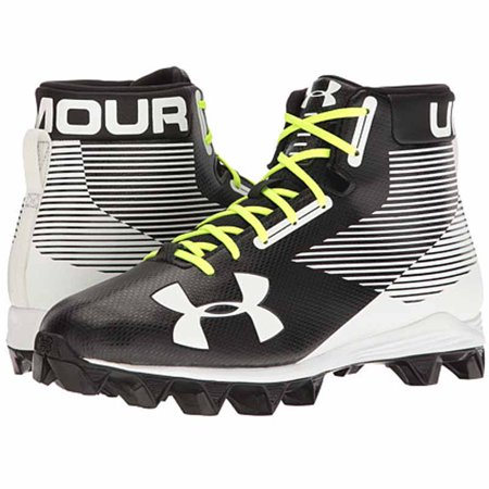 Mid Football Shoes (Under Armour Men's Hammer Mid RM Football Shoe, Black/White, 7 M)