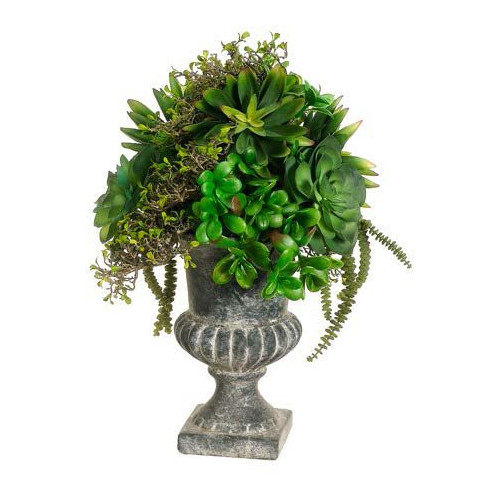 Tori Home Succulents Floor Plant in Urn