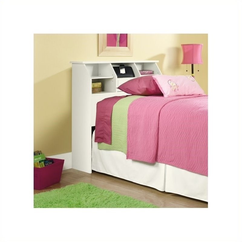 Pemberly Row Twin Bookcase Headboard in White