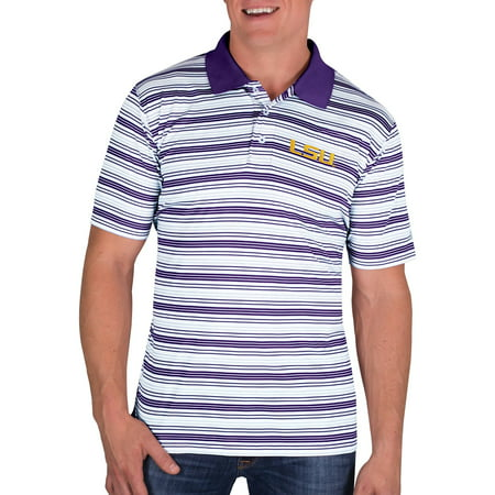 (NCAA LSU Tigers Men's Classic-Fit Striped Polo Shirt)