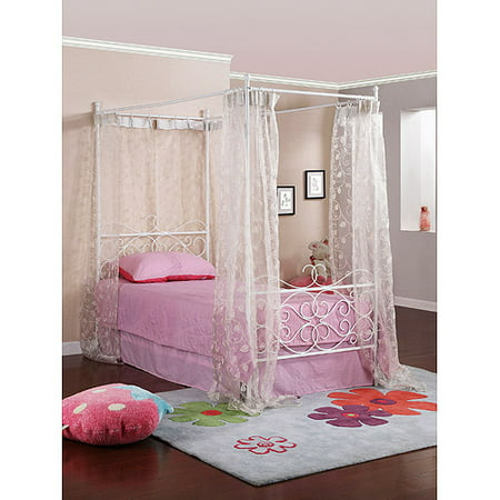 canopy wrought iron princess bed multiple colors walmartcom