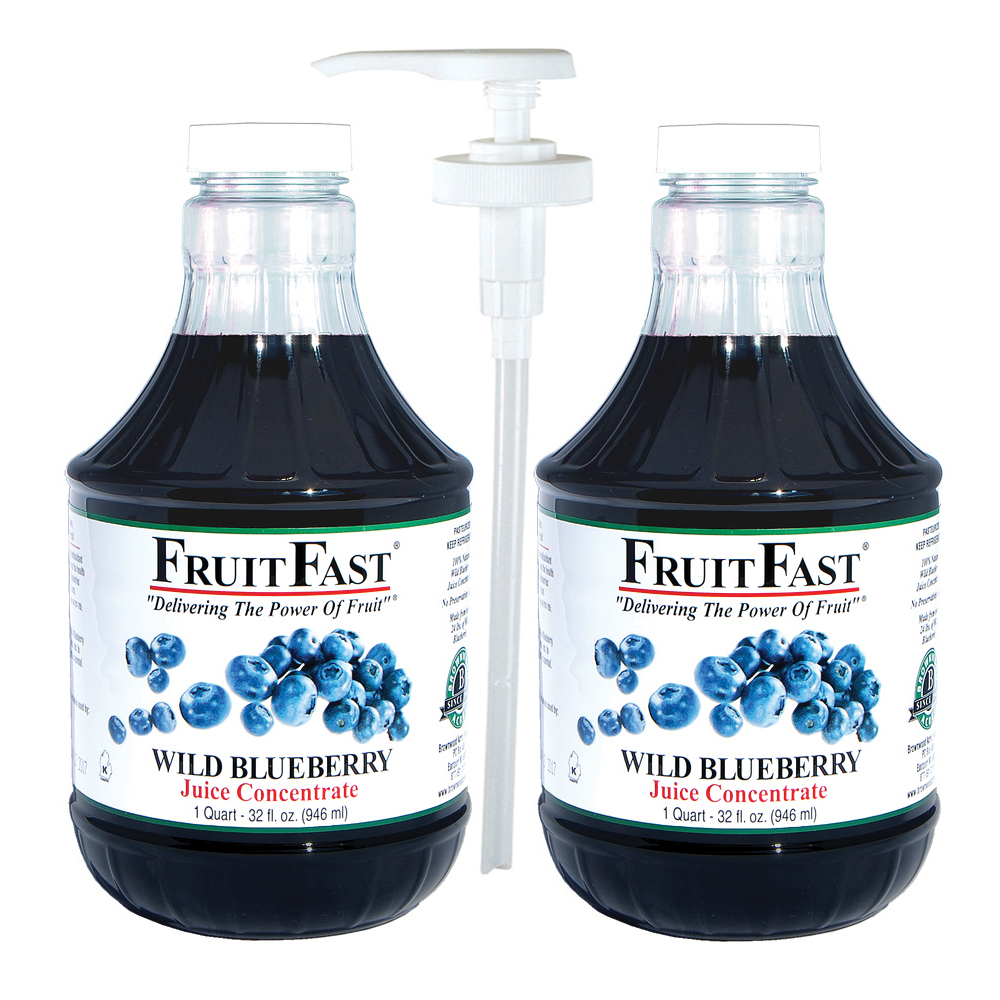Fruitfast Wild Blueberry Juice Concentrate Cold Filled 2 Quarts