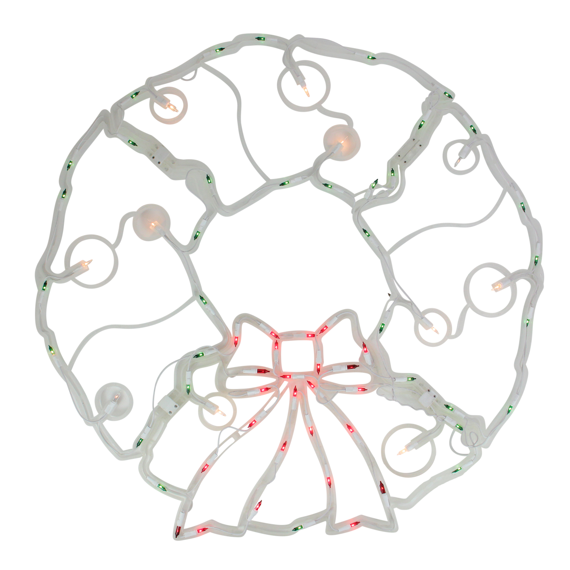 "31.5"" Folding Lighted Twinkling Wreath Christmas Window Decoration - Multi Lights"
