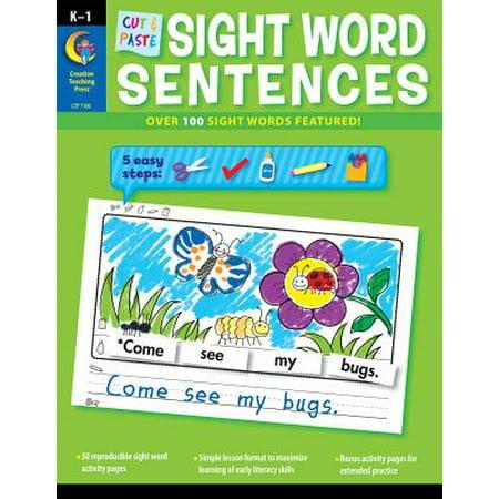 Cut & Paste Sight Words Sentences - Color Cut And Paste Halloween