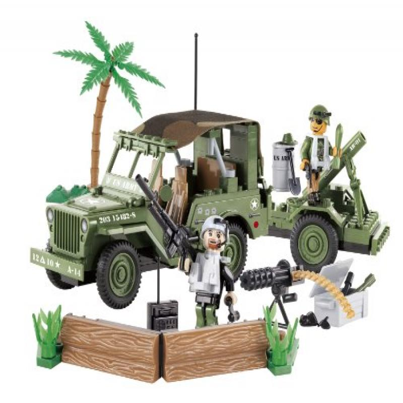 COBI Small Army Jeep Willy's Military B with Mortar Construction Vehicle by