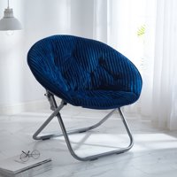 Urban Shop Corduroy Saucer Chair, Available in Multiple Colors