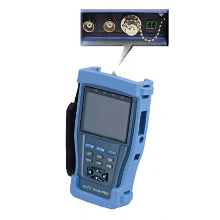 Cop Security 3.5 LCD Speed Dome Test Monitor w- Optical Power Meter Blue