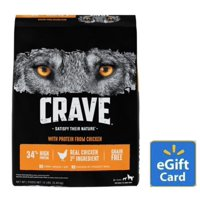Crave Grain-Free Adult Dry Dog Food, 12 Lb with $5 eGift Card