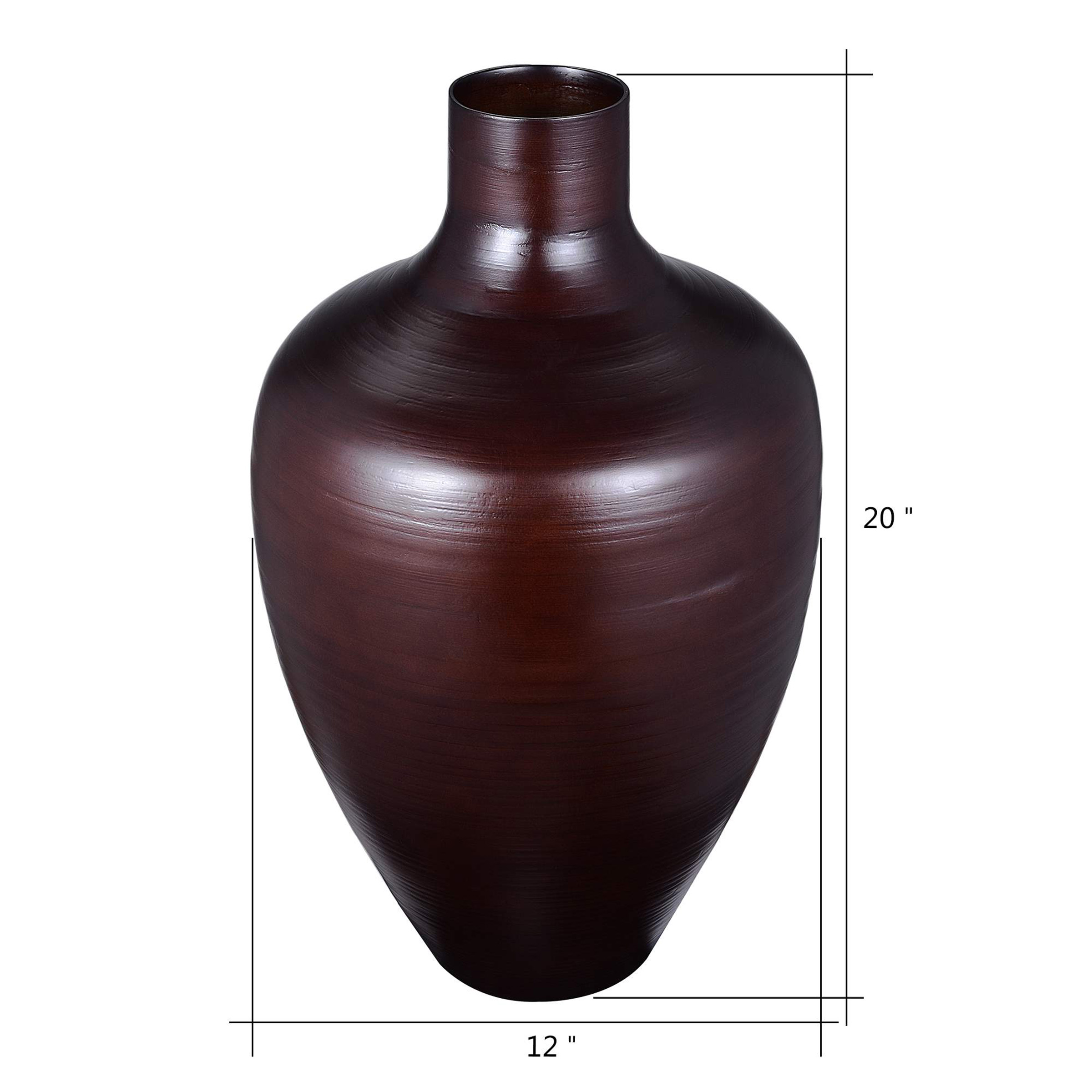 """Villacera Handcrafted 20"""" Tall Natural Bamboo Vase   Decorative Gourd Floor Vase for Silk Plants, Flowers, Filler Decor   Sustainable Bamboo"""