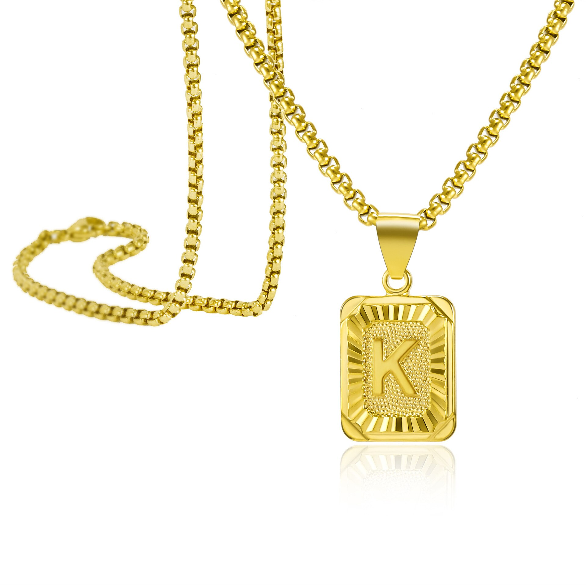Gold Finish Stainless Steel Bike Pendant on 20inch  Necklace with Earrings