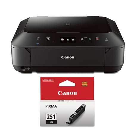 Canon PIXMA MG6620 Wireless Color Photo All-in-One Inkjet Black Printer Ink  Bundle