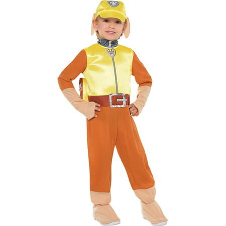 Costumes USA PAW Patrol Rubble Costume for Toddler Boys, Includes a Jumpsuit, a Hat, a Backpack, and More - Costumes And More