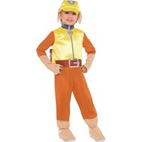 Costumes USA PAW Patrol Rubble Costume for Toddler Boys, Includes a Jumpsuit, a Hat, a Backpack, and More