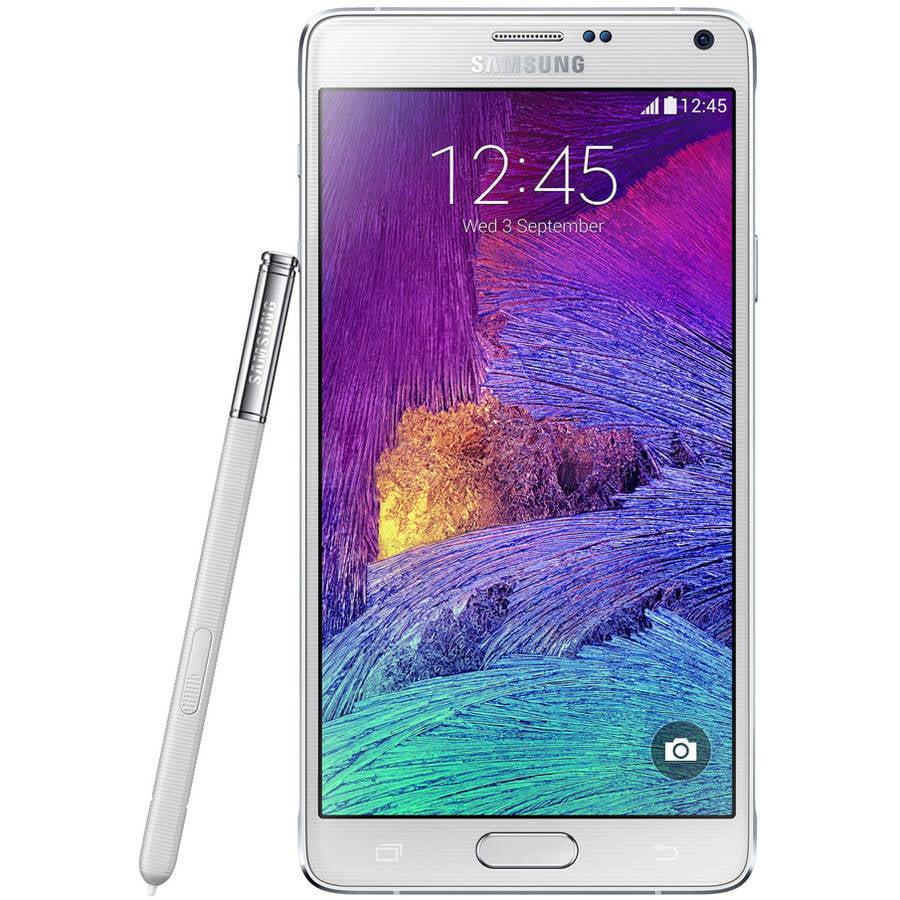 Refurbished Samsung Galaxy Note 4 N910H 32GB GSM Smartphone (Unlocked), White
