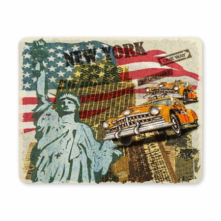 POP Rectangle Non-Slip Rubber New York Vintage Mousepad Mat for Gift 9x10 inch - image 2 of 2
